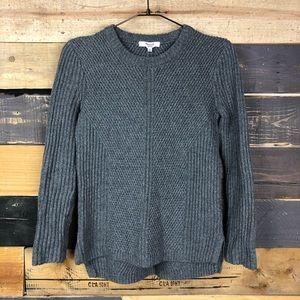 MADEWELL Holcomb texture sweater XS Gray knit euc